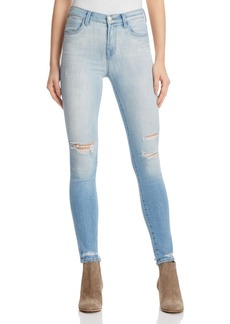 J Brand Maria High Rise Skinny Jeans in Superstar Destruct