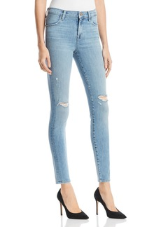 J Brand Maria High-Rise Skinny Jeans in Surge Destruct