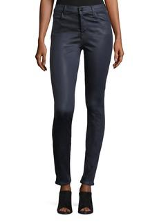 J Brand Maria High-Rise Skinny-Leg Coated Pants
