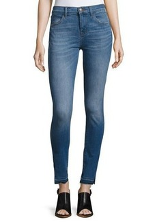 J Brand Maria High-Rise Skinny Side-Slit Jeans with Released Hem