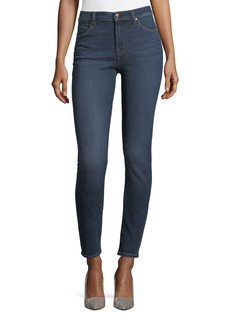 J Brand Maria High-Rise Super-Skinny Jeans  Medium Blue