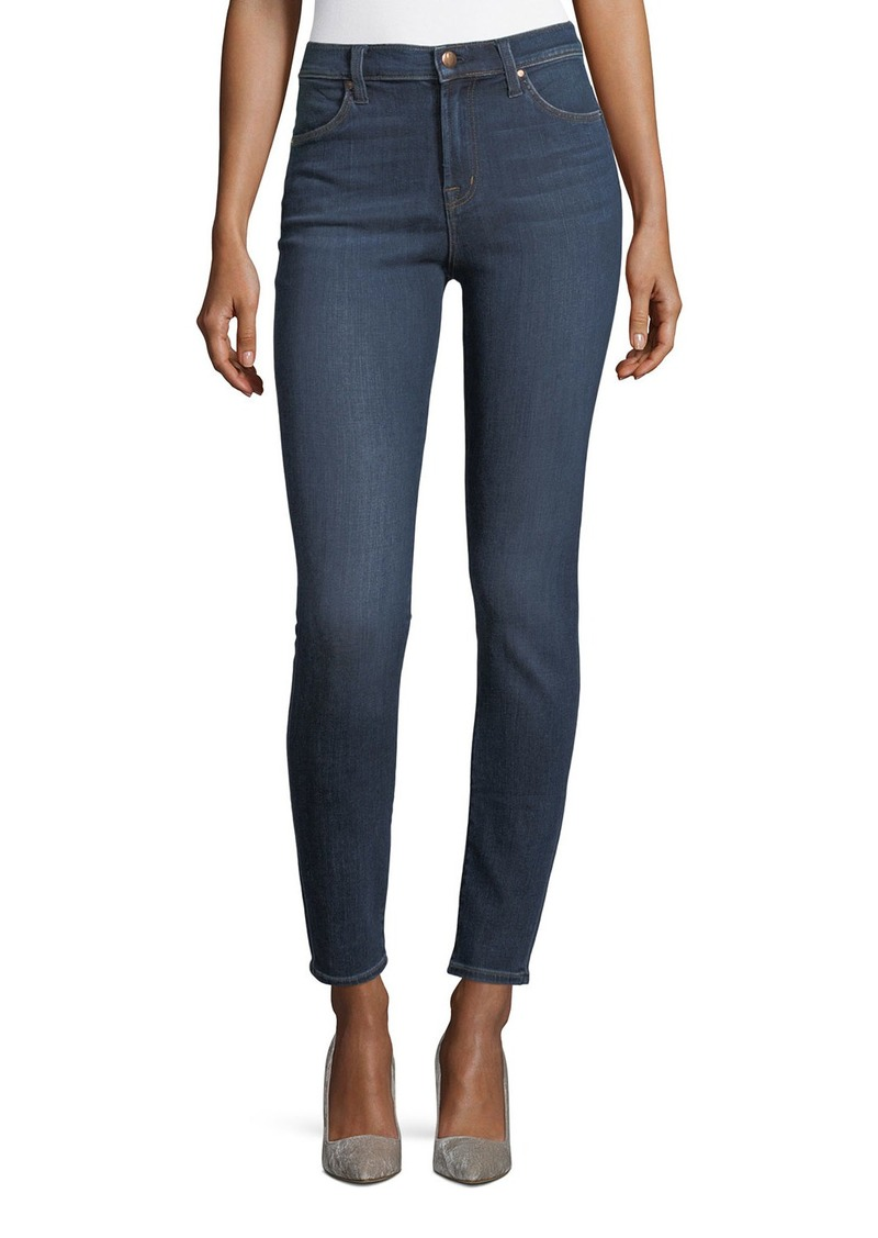 J Brand Maria High-Rise Super-Skinny Jeans  Medium Blue