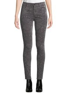 J Brand Maria High-Rise Velvet Skinny Pants