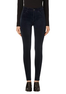 J Brand Maria High Waist Velvet Skinny Jeans