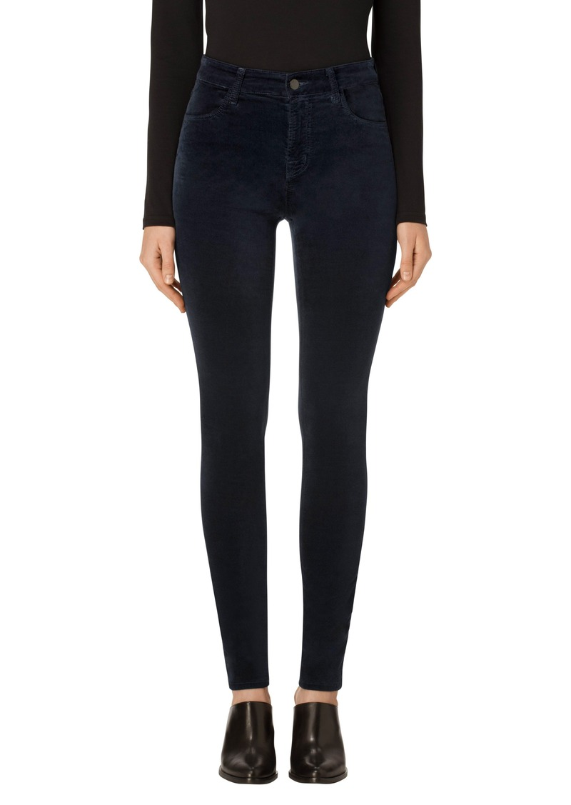 j brand j brand maria high waist velvet skinny jeans denim shop it to me. Black Bedroom Furniture Sets. Home Design Ideas
