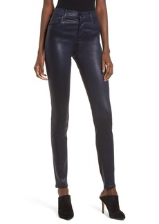 J Brand Maria High Waist Skinny Jeans (Coated Electric)