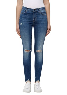 J Brand Maria High Waist Skinny Jeans (Revoke Destruct)
