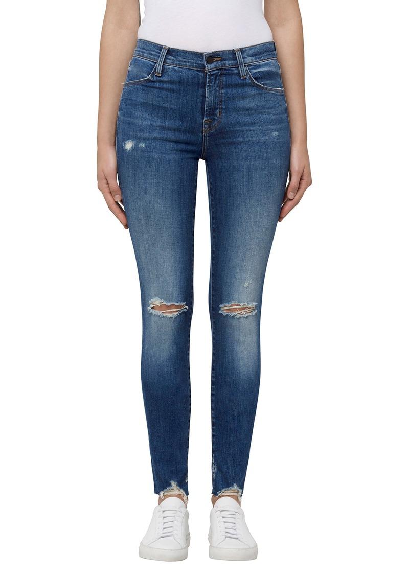 j brand j brand maria high waist skinny jeans revoke destruct denim shop it to me. Black Bedroom Furniture Sets. Home Design Ideas