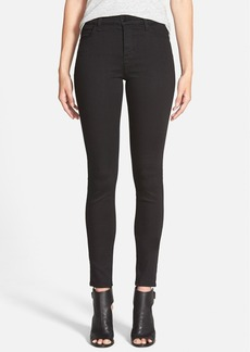 J Brand Maria High Waist Skinny Jeans (Seriously Black)