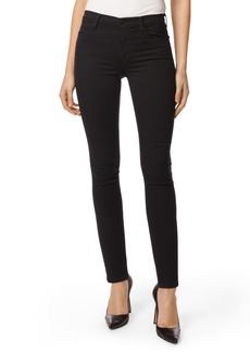 J Brand Maria High Waist Super Skinny Jeans (Seriously Black)