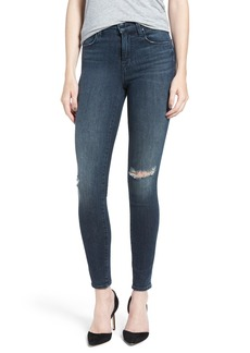 J Brand 'Maria' Ripped High Rise Skinny Jeans (Arrested)