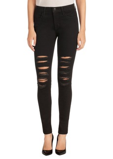 J Brand Maria Ripped High Waist Skinny Jeans (Blk Heart)