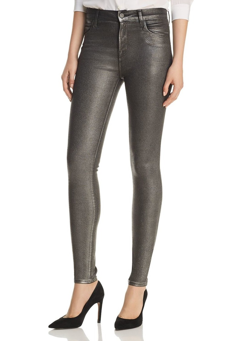 J Brand Maria Skinny Jeans in Silver Lament
