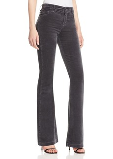 J Brand Maria Velvet Flare Jeans in Asphalt - 100% Exclusive