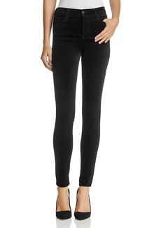 J Brand Maria Velvet Skinny Jeans in Black