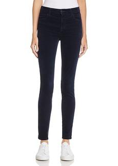J Brand Maria Velvet Skinny Jeans in Dark Iris