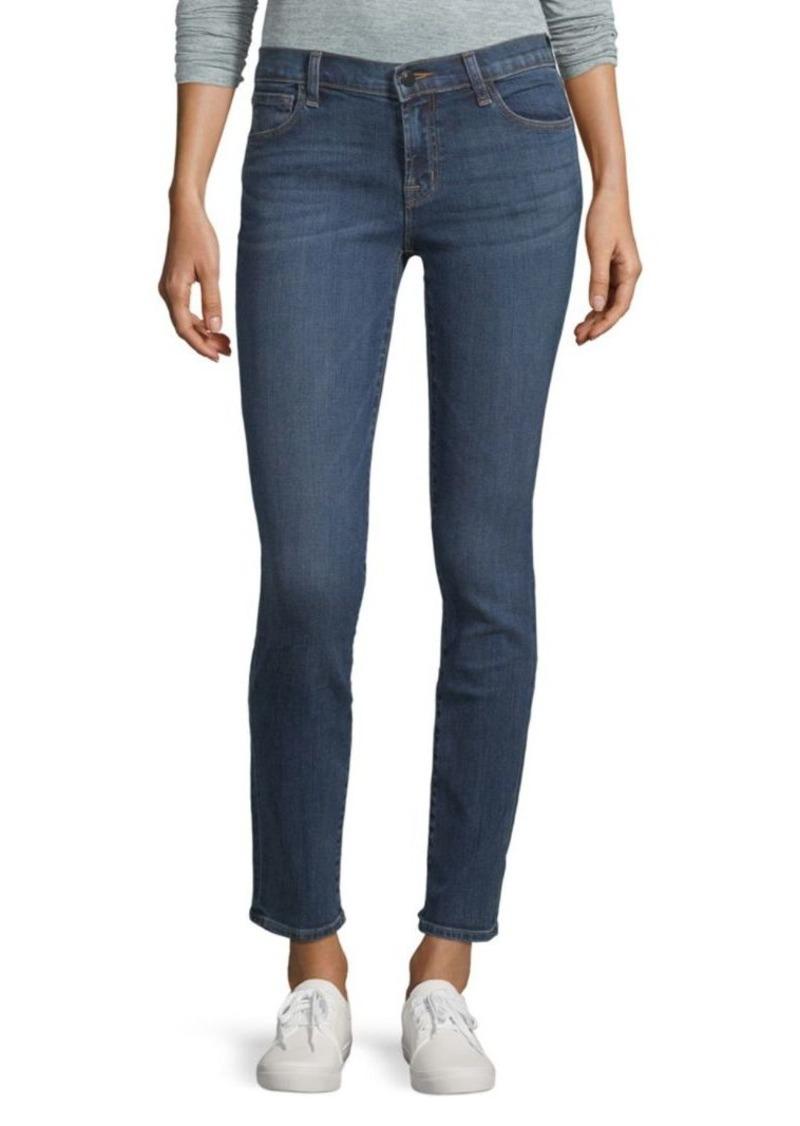 J Brand Maude Mid-Rise Skinny Jeans