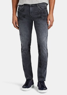 J Brand Men's Mick Paint-Splatter Skinny Jeans