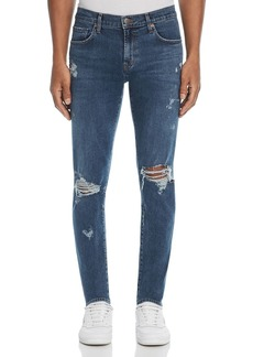 J Brand Mick Destroyed Skinny Fit Jeans in Physalis
