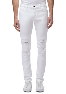 J Brand Mick Ripped Skinny Fit Jeans (White Relic)
