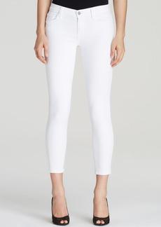 J Brand Mid Rise Capri Jeans in Blanc