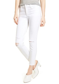 J Brand Mid-Rise Capri Skinny Jeans (White Mercy) (Nordstrom Exclusive)