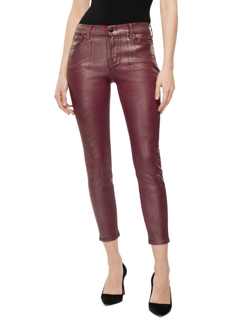 J Brand Mid-Rise Coated Jeans in Bittersweet Shimmer