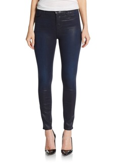 J BRAND High-Rise Coated Super Skinny Jeans