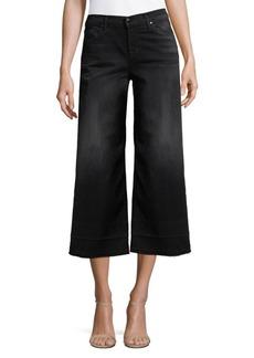 J BRAND Mid-Rise Cropped Culotte Dark Jeans