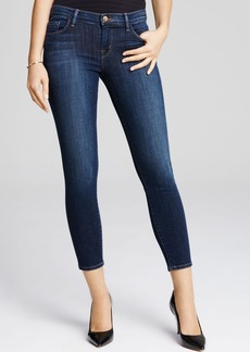 J Brand Mid Rise Cropped Jeans in Oblivion