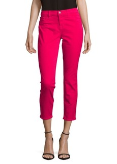 J BRAND Mid-Rise Cropped Jeans/Romantic