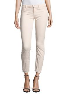 J BRAND Mid-Rise Cropped Jeans/Rose Blush