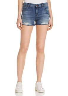 J Brand Mid Rise Cutoff Denim Shorts in Razed Gone