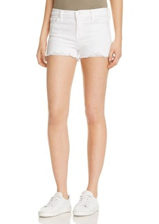 J Brand Mid Rise Denim Shorts in Razed Blanc