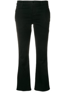 J Brand mid-rise flared jeans - Black