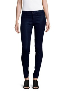 J BRAND Mid-Rise Lacquered Super Skinny Jeans