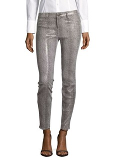J BRAND Mid-Rise Leather Jeans