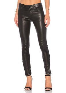 J Brand Mid Rise Leather Skinny in Black. - size 24 (also in 26,25,27,28,29,30)