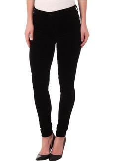 J Brand Mid-Rise Luxe Velveteen Skinny in Black
