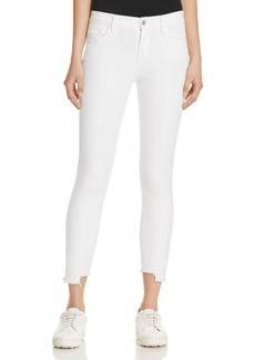J Brand Mid Rise Pintuck Skinny Jeans in Blanc