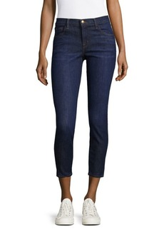 J Brand 825 Mid-Rise Crop Jeans