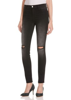 J Brand Mid Rise Skinny Jeans in Washed Black - 100% Exclusive