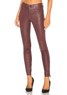 J Brand Mid Rise Skinny Leather Pant