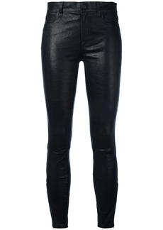 J Brand mid rise skinny trousers - Black