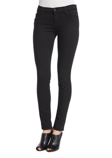J Brand Mid-Rise Super-Skinny Ankle Jeans