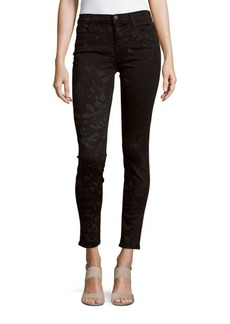 J BRAND Mid-Rise Super-Skinny Cropped Jeans