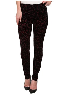 J Brand Mid-Rise Super Skinny in Mulberry Brocade