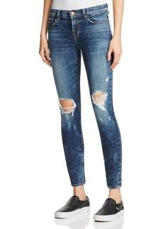 J Brand Mid Rise Super Skinny Jeans in Dark Erosion