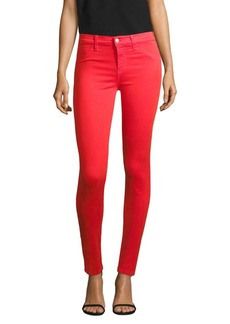 Mid-Rise Super Skinny Sateen Jeans