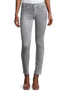 J Brand Mid-Rise Super Skinny Velvet Pants